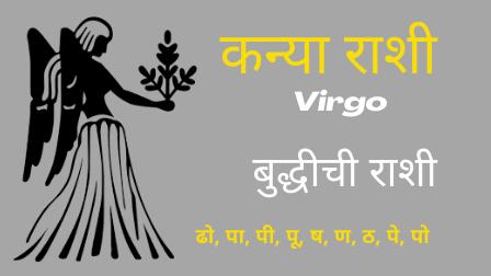 कन्या राशी- Kanya Rashi- बुद्धीची राशी