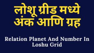 Read more about the article लोशू ग्रीड मध्ये अंक आणि ग्रह