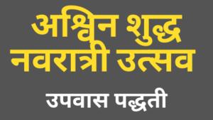 Read more about the article अश्विन शुद्ध नवरात्री उत्सव- उपवास पद्धती